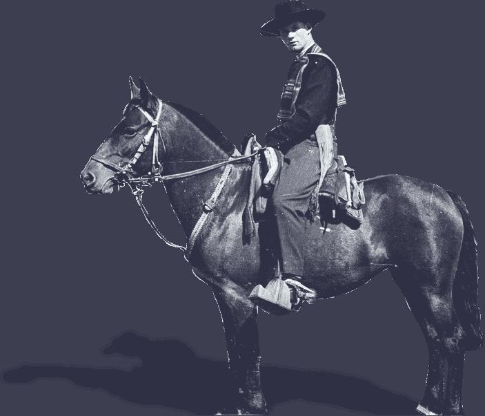 huaso sobre un caballo